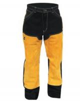 Брюки сварщика ESAB Proban Welding Trousers изготовлены из негорючего материала. В передней части усилены кожей. Прошиты кевларовой нитью.